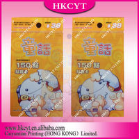 Plastic packing bag/colorful head card bag for toy/aluminum foil bag