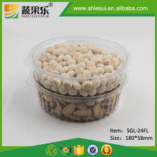 Disposable Plastic Snack Packing Container with Flat Lid