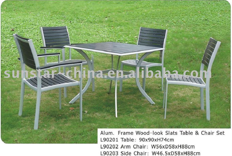 aluminio muebles de jard n de madera mirada conjuntos de