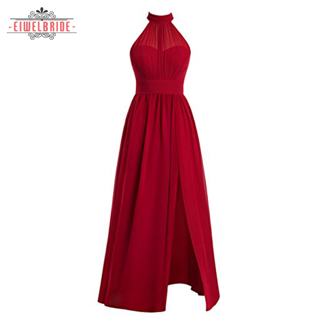 Red Strapless Bridesmaid wedding dresses from china
