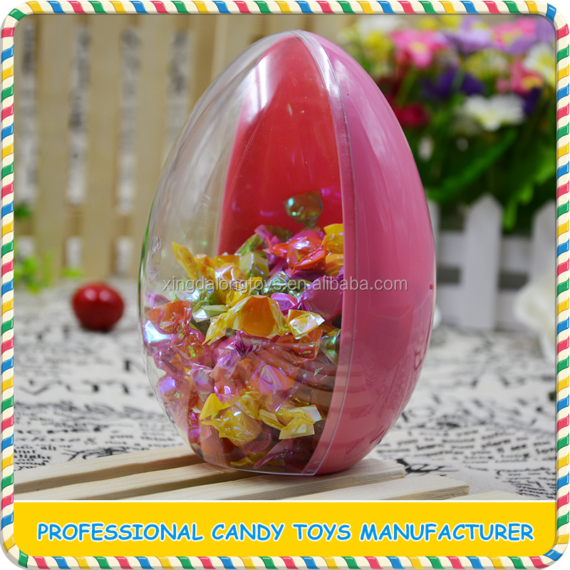 Clear easter egg / plastic surprise egg / egg toy candy