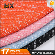 Fashion beautiful soft handfeel luxury poly slub woolen suiting fabric