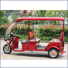 2900mmx960mmx1700mm size battery operated auto tricycle rikshaw for passenger