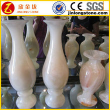 natural white jade vase