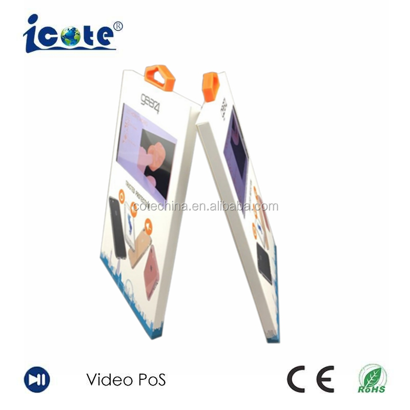 Cote Thin LCD Video Digital Printing Oem For Business Name Card