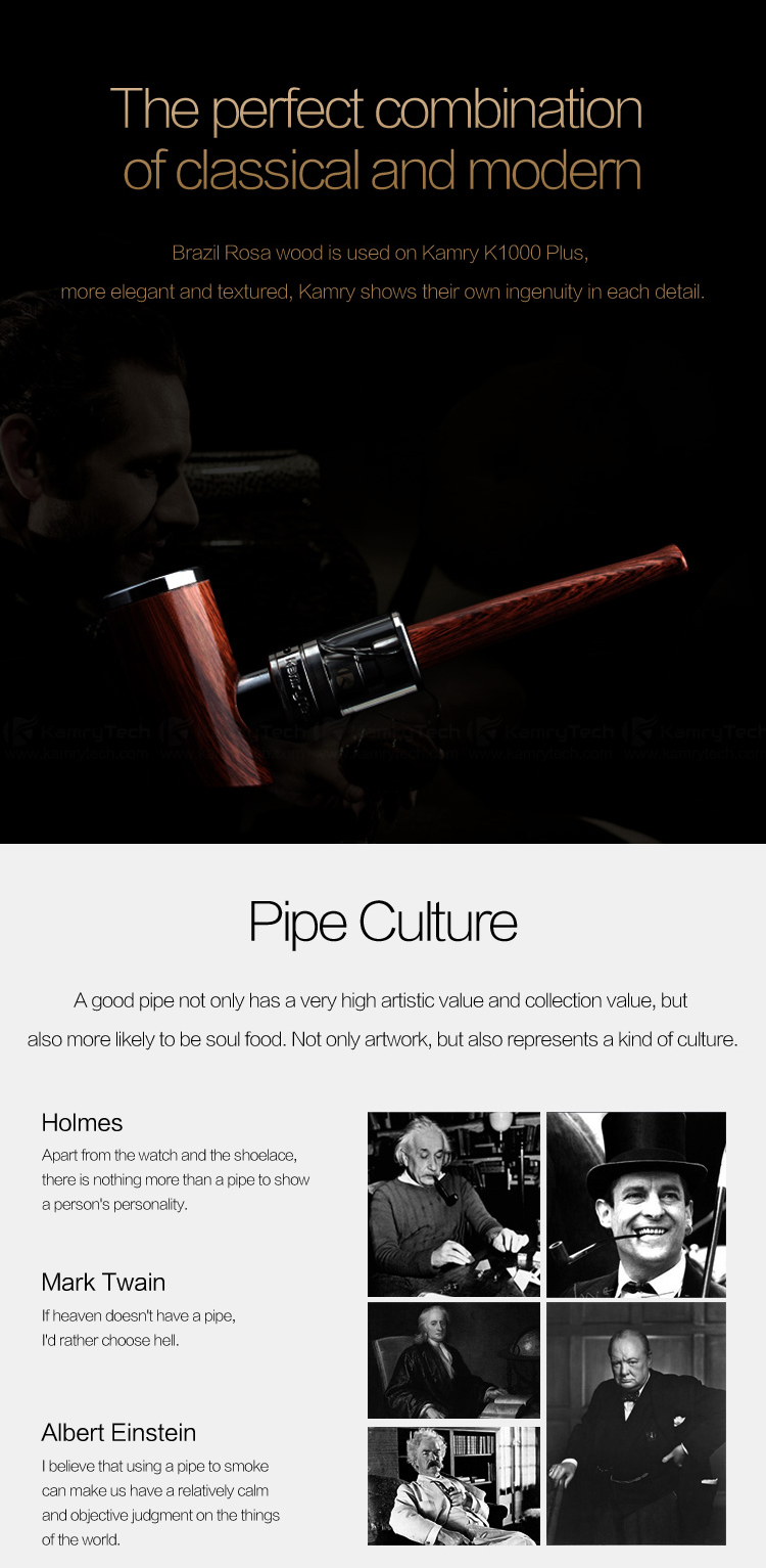 2016 USA health products 30w epipe kamry k1000plus e cigarette wood ke pipe usa 2016