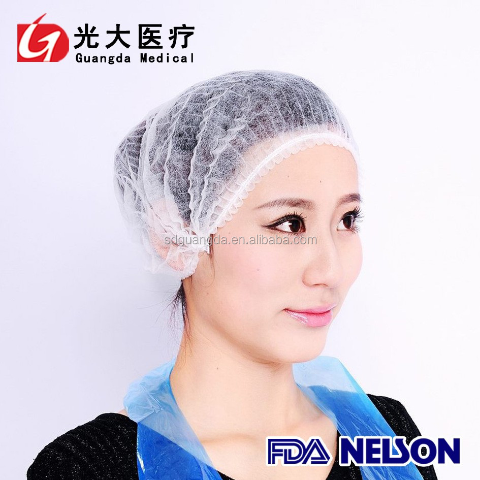 medical use disposable nonwoven hair net