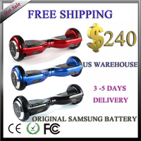 US warehouse 3 days delivery time 6.5 inch Original Samsung battery self balance scooter 2 wheel hoverboard scooter