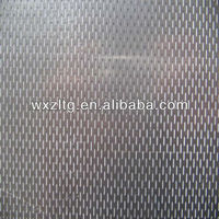 Hairline finished 316L Stainless steel checkered plates