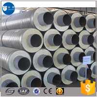 Hot selling Polyurethane foam air conditioning insulation pipe with galvanized steel sleeve for cooling water supply