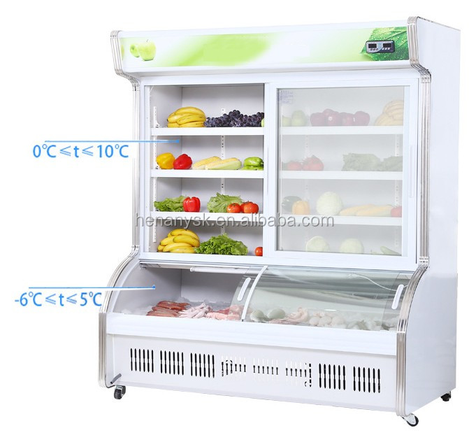 New Product 2017 Showcase Glass Refrigerator From China Famous Supplier