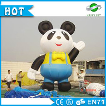 2016 Guangzhou 6m giant inflatable panda for sale/inflatable promotional panda cartoon