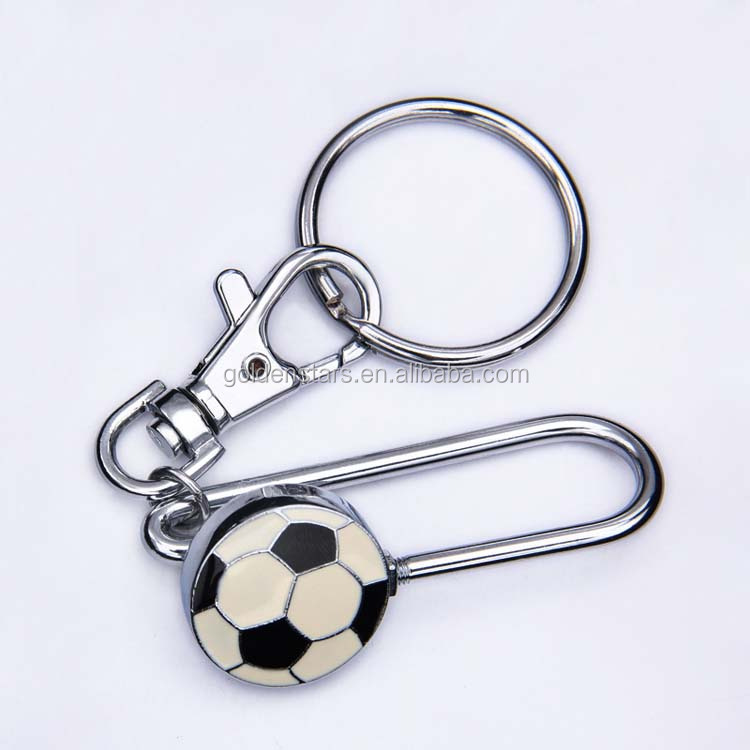 Custom soccer souvenirs metal key holder soccer promotional items