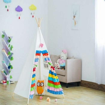 2017 New colorful 4-poles children play indoor teepee tent & 2017 New colorful 4-poles children play indoor teepee tent View ...