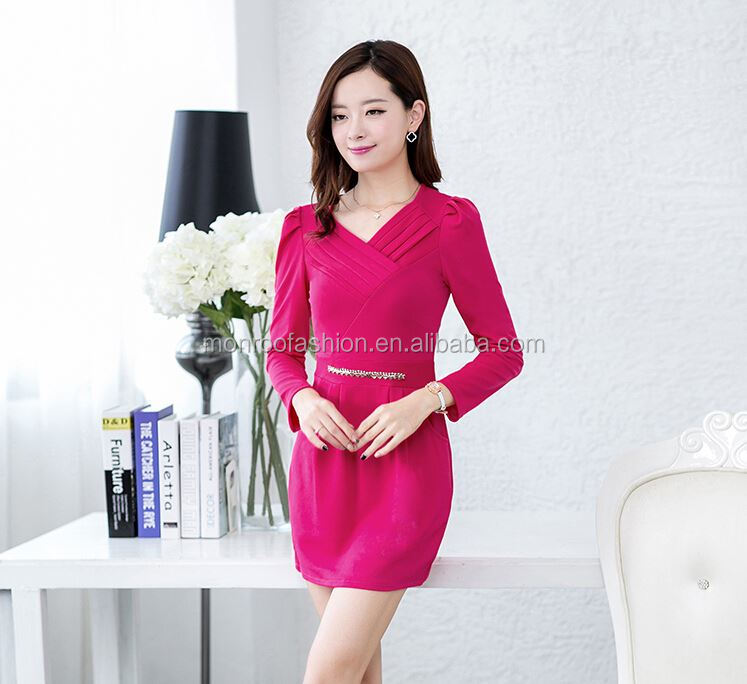 monroo different v neck design elegant eve dress