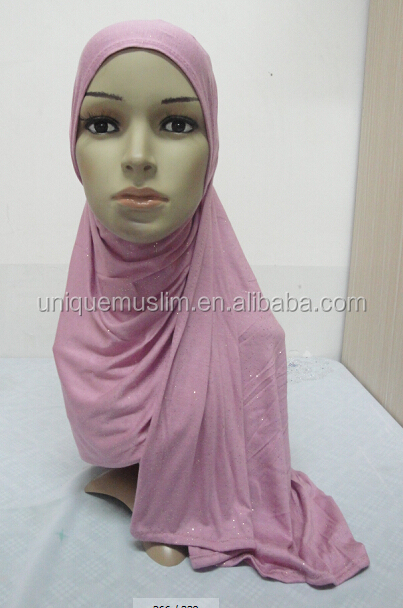 JL076 fashion cotton jersey scarf with glitters