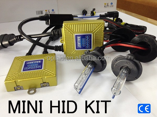 HID kit mini slim bixenon Japan AC ballast kit guangzhou factory H1 H3 H7 H8 H11 9005 9006 12V/35W AC bulb car headlight kit car