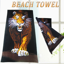 China supplier wholesale microfiber animal photo beach towels