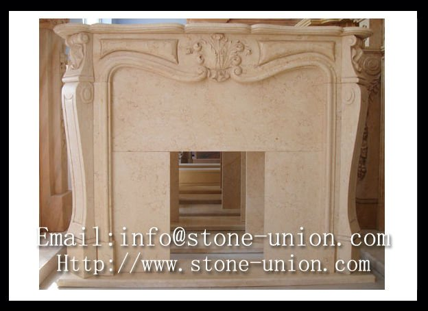 Botticino Marble Fireplace