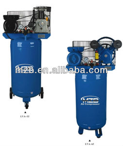 Vertical tank air compressor 100L two cylinder piston type air compressor LVA-65