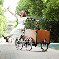 3 wheel bakfiet electric cheapest cargo bike three wheel pedal tricycle