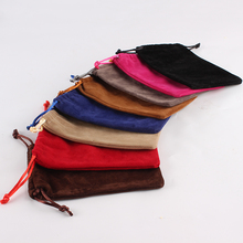 10*14cm Double Side custom printed drawstring jewelry pouch velvet pouch bag jewellery pouches with logo