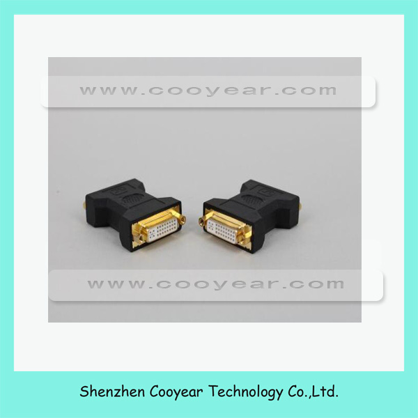 DVI 24 5 to DVI 24 5 Female Connector Cable Computer TV HD Adapter