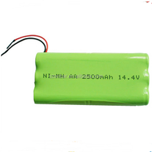 Rechargeable nimh battery pack 14.4v AA 2500mAh for hearing aid