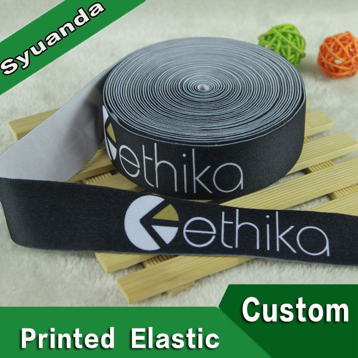 Top Level Custom Logo Woven Printed Elastic