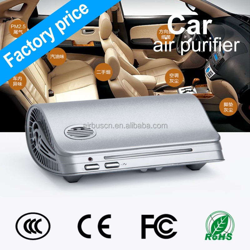 Airbus anion uv air purifier hepa filter car 12v air conditioner oem manufacture