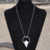 2017 Silver Color Irregular Stone Pendant Long Necklace