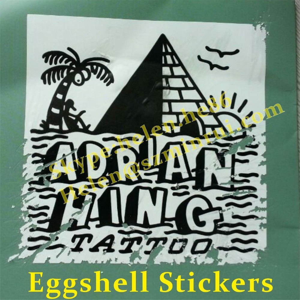 Custom 0 1mm thickness eggshell stickers with strong adhesionprinted your design eggshell sticker manufacturer