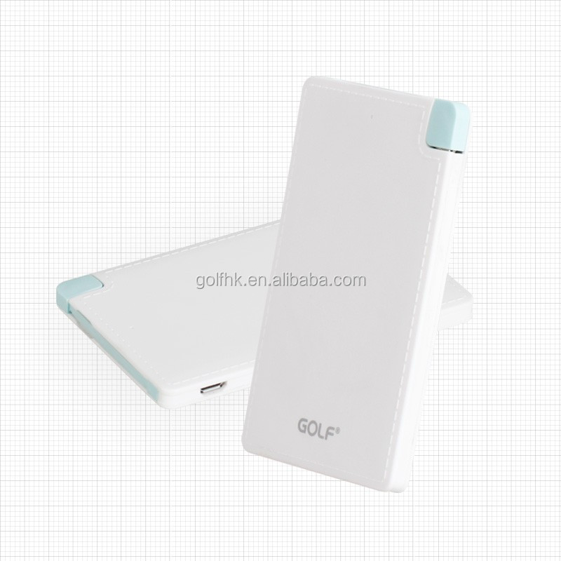 Built in USB card mobile power supply portable power bank 2200mAh