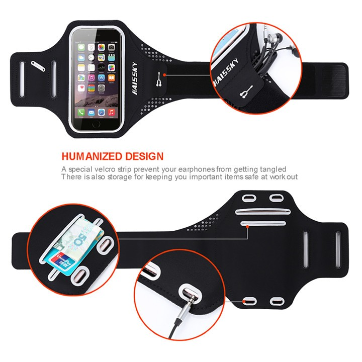 HAISSKY High quality Sports Running Phone Lycra Armband for Iphone 6, for Samsung