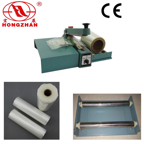 Impulse Hand Sealer for Plastic Film and Kraft Paper cutting with Heat Strip round heating wire and Knife Cutter