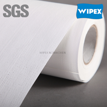 55%cellulose 45%PET new product premium quality cleaning paper roll