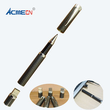 ACMECN Free freight 2017 Original Unique Design Carbon Fiber Pen Luxury Ballpoint Pen with LOGO for Promotion Gifts Pen Drive