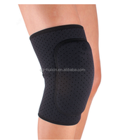 Breathable Sports Safety Knee Supports Brace Wrap Elastic Knee Pads Support Durable Knee Protector Guard Pads Black