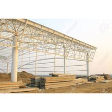 light fabric large span steel building factory steel frame