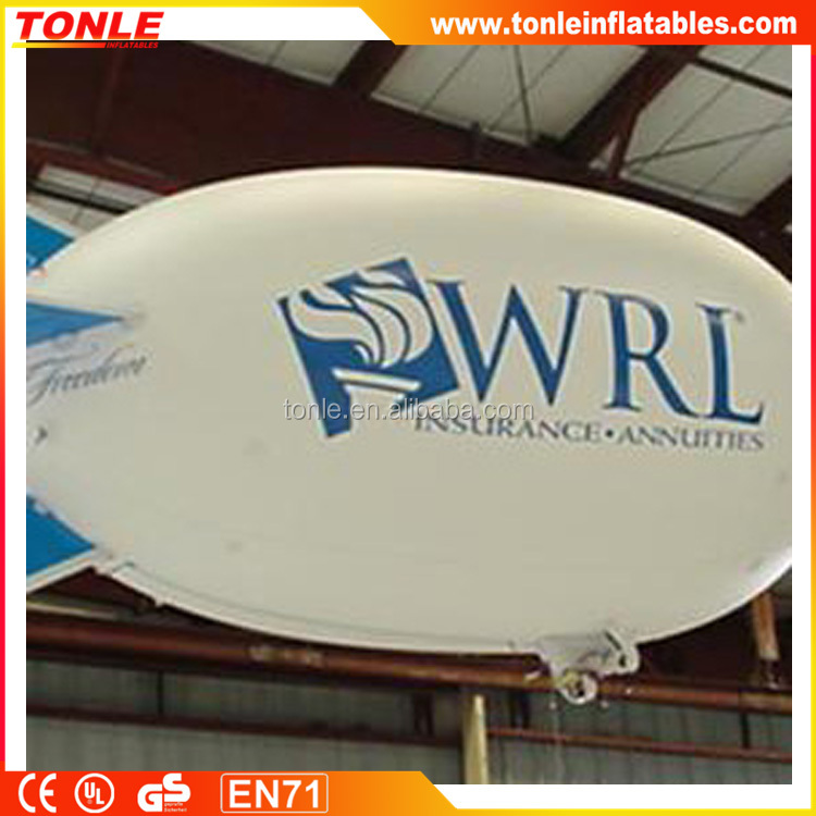 white inflatable helium airship for advertising/ inflatable helium blimp with logo for display