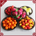 Wholesale customized supermarket fruit vegetable floor display stand