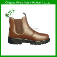 steel toe steel plate buffalo cow leather light duty safety boots