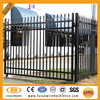 Black powder coated spear top steel picket fence gates
