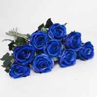 cheap real touch single stocking flowers designs giant silk flowers for artificial decoration