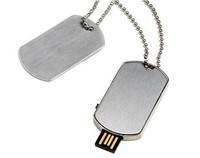 Best gifts slim style custom logo Metal dog tag usb flash drive