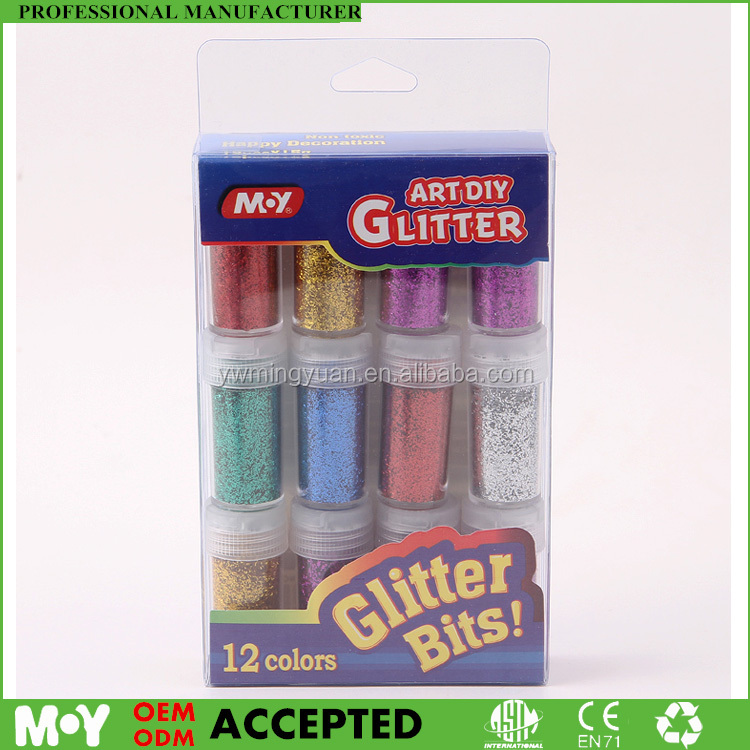 Fashion box package various color and shapes wholesale bulk glitter for cosmetic glitter powder glitter dust