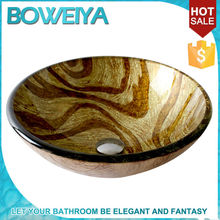 Hot Sale Glass Sink Bathroom Sanitary Wares Glass Vessels Glass Basin