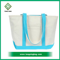 Hot sale cotton plain canvas tote shopping bag