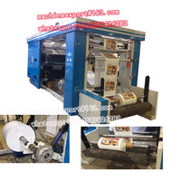 rubber roller and steel anilox roller timing belt control paper printing machine