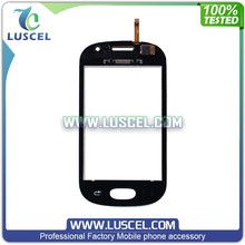LC China market of electronic front glass panel for Samsung Galaxy Fame/S6810 touch glass repair parts